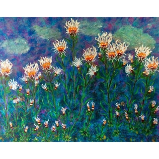 "Brenda Lee ""Mystic Fields"" Floral Acrylic Painting"