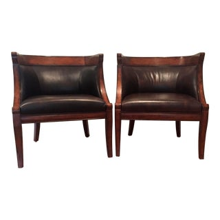 Barrel Chairs - A Pair