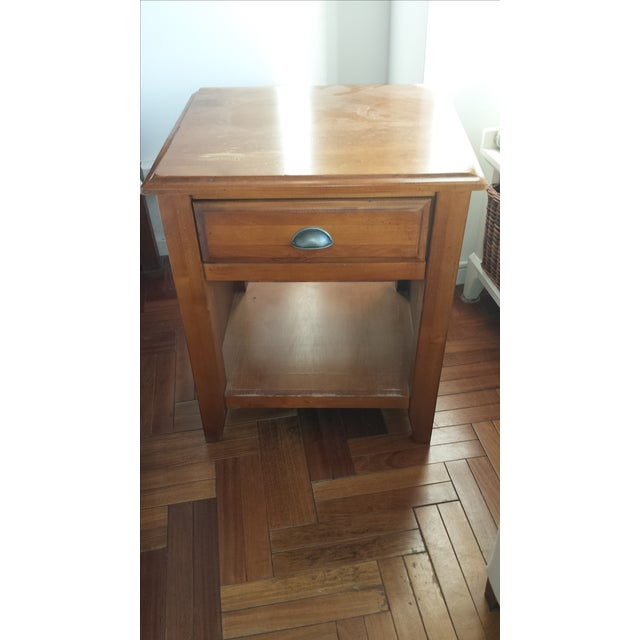 Image of Pottery Barn Solid Wood Nightstand