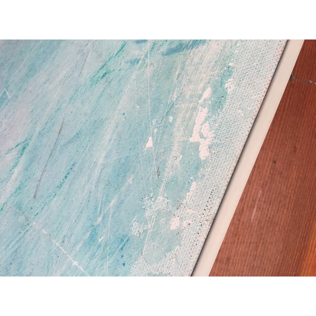 Framed Abstract Pastel & Plaster on Canvas Board - Image 4 of 6