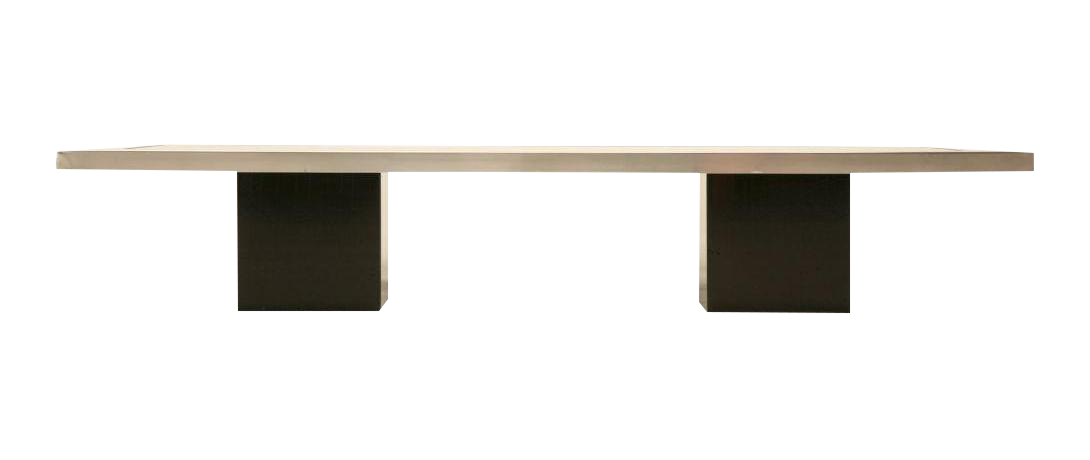 60s Black Lacquered U0026 Brushed Metal French Coffee Table