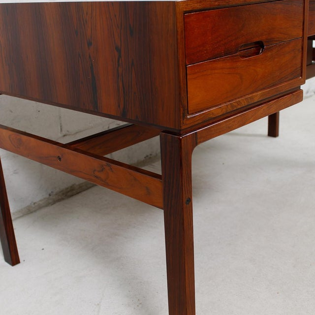 Danish Modern Rosewood Desk by Arne Wahl Iversen - Image 5 of 7