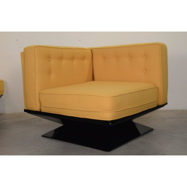 Upholstered in a New Yellow Knoll Wool MIM Roma (Ico Parisi) Sectional Sofa by Luigi Pellegrin - Image 7 of 10