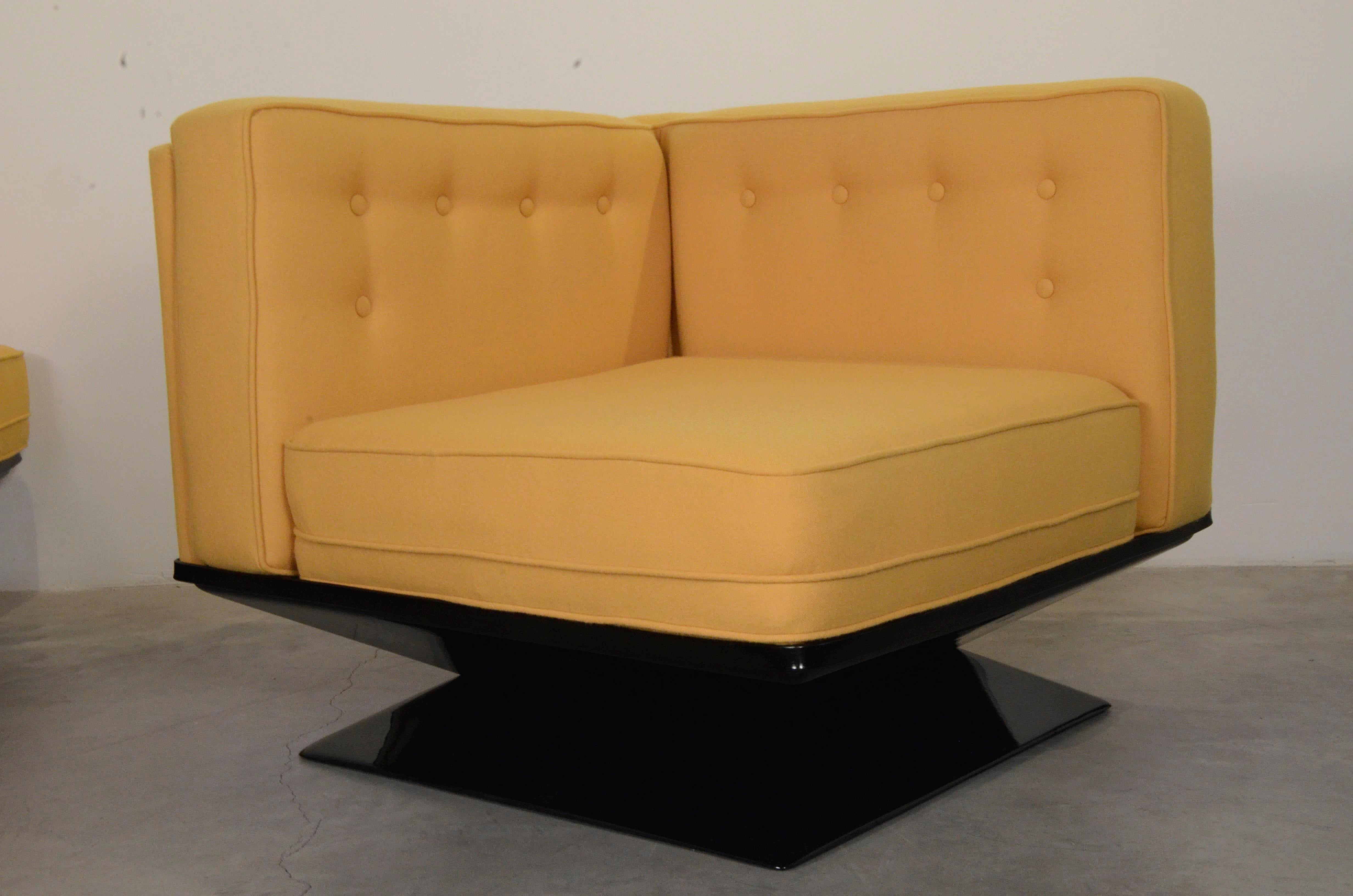 Upholstered in a New Yellow Knoll Wool MIM Roma (Ico Parisi) Sectional Sofa by  sc 1 st  DECASO : yellow sectional - Sectionals, Sofas & Couches