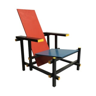 The Red and Blue Chair by Gerrit Rietveld