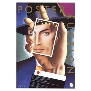 "Gerald Razzia ""Poster Auction"" Lithograph 1992"