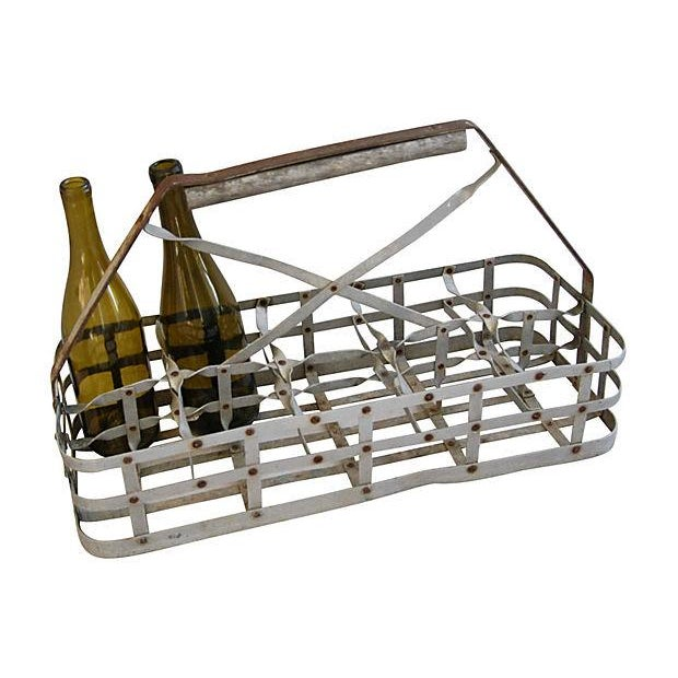 Antique French 10-Bottle Carrier - Image 4 of 5