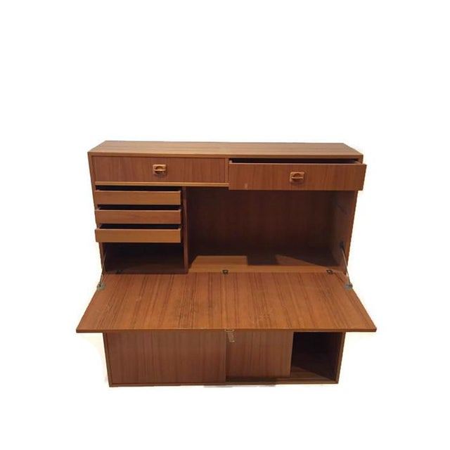 Mid Century Teak Modular Wall Unit Desk or Bar - Image 8 of 9