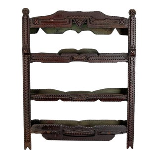 19th Century European Tramp Art Wall Shelf
