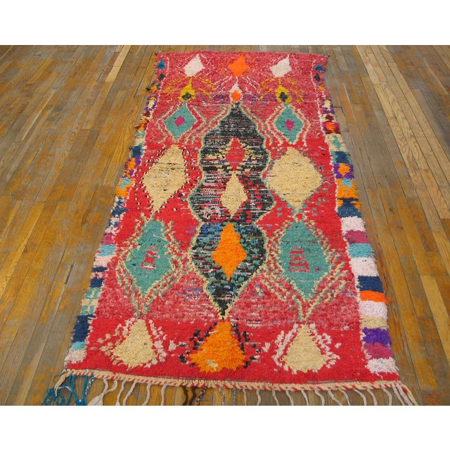 Moroccan Wool & Cotton Rug - 3′6″ × 8′4