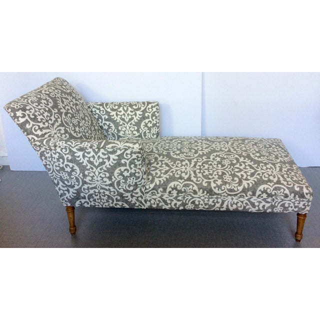 Image of Antique French Linen Chaise