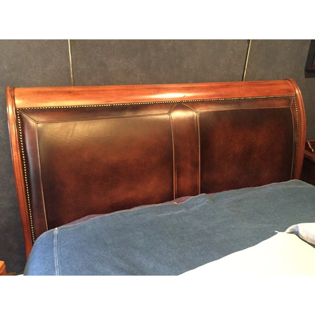 Harden Leather Upholstered Queen Sleigh Bed - Image 3 of 5