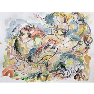 The Bathers Painting on Paper