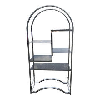 Milo Baughman Chrome Arched Etagere