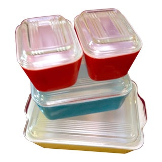 Mid-Century Pyrex Food Storage & Serving Dishes - Set of 4