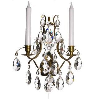 Pompe Cognac Crystal Sconce Chandelier