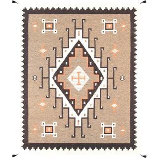 """Navajo Hand-Woven Wool Area Rug - 7'10"""" X 9'11"""""""