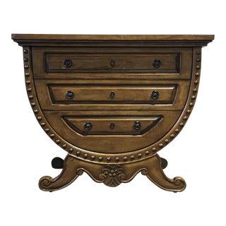 Guild Master Handmade Carved Bachelor Barrel Chest of Drawers