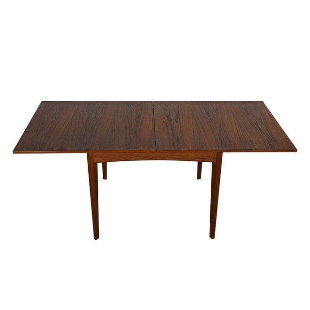 Danish Modern Teak Square to Rectangle Dining / Game Table - Image 2 of 7