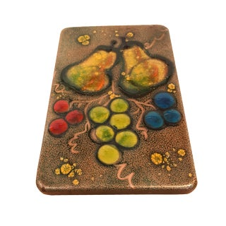 Mid-Century Copper Enamel Wood Box