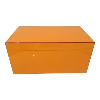 Orange Lacquer Jewel Box