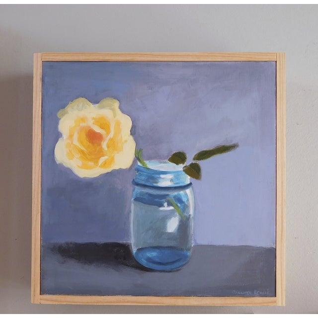 "Original Painting ""Yellow Rose"" - Image 7 of 7"