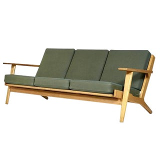 Hans J. Wegner for GETAMA Danish Three Seat Sofa in Oak GE 290