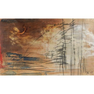 George Turner Twitter Wood Abstract Landscape Painting