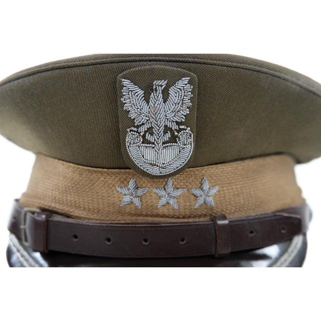 Image of Vintage Polish 3 Stars Military Officer Hat