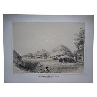 """Buffalo Hunt. Approaching.."" Ltd Ed Serigraph"