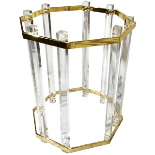 Vintage, Hollywood Regency Lucite & Gold Dining Table Base