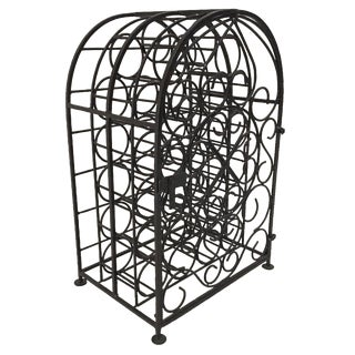 Cage Iron Wine Rack