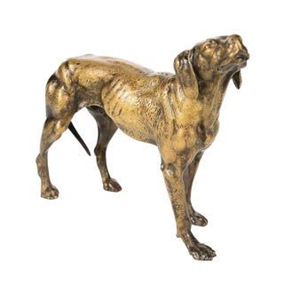 19th Century Bronze Hunting Dog Sculpture