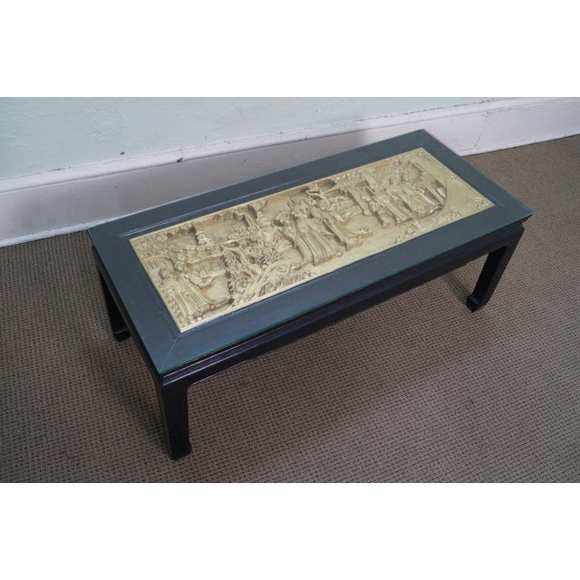 Vintage Black & Gold Chinese Coffee Table