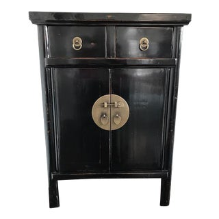 Antique Chinese Black Laquer Cabinet