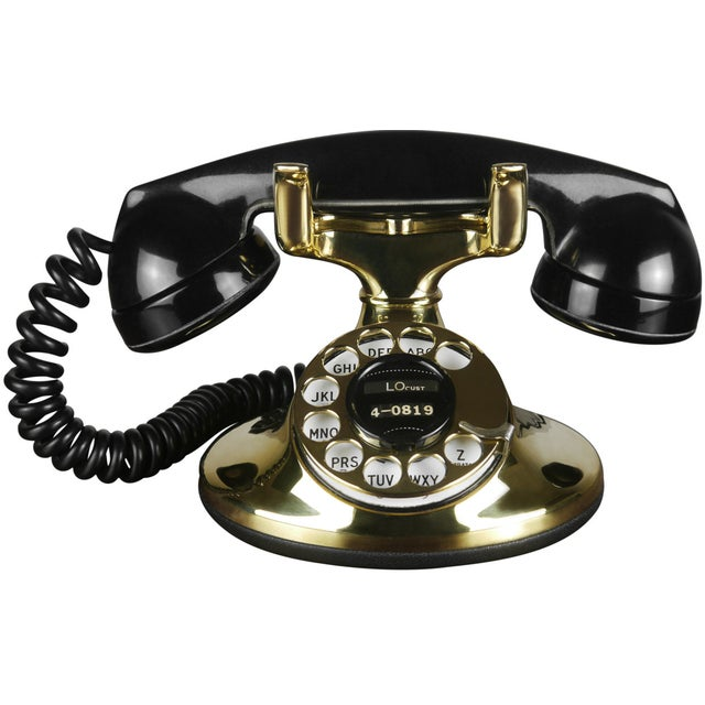 1930s Art Deco Brass Telephone - Image 1 of 4