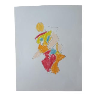 """Natasha"" Figurative Abstract Drawing"