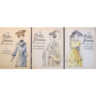 Original 1920 French Fashion Plates - Set of 3