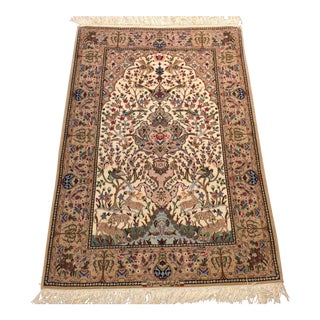 Hand Knotted Persian Isfahan Garden Rug - 3′6″ × 5′4″