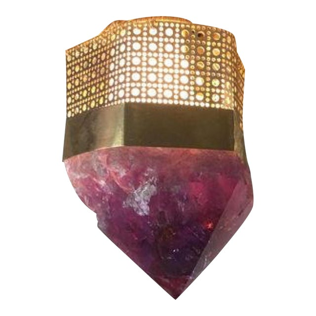 Customizable Semi-Precious Light Fixture - Image 1 of 4