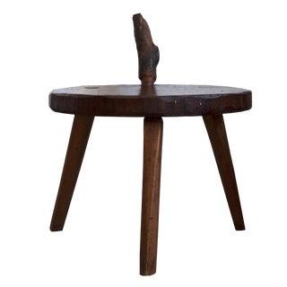 Rustic Folk Hand-Held Side Stool