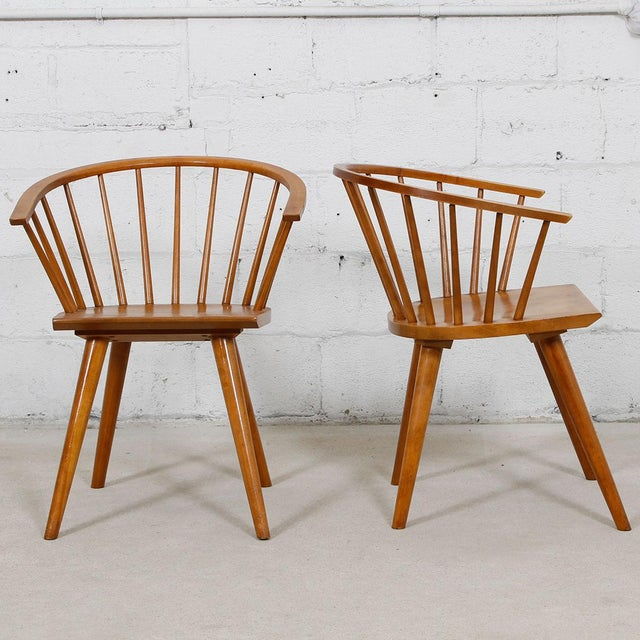 Russell Wright for Conant Ball Dining Armchairs- A Pair - Image 3 of 10