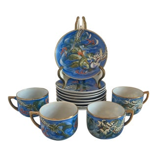 Vintage Dragonware Demitasse Cups & Saucers - Set of 12