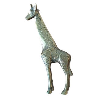 Vintage Brass Giraffe Figurine