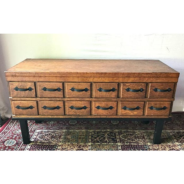 Antique Library Card Catalog Converted To Coffee Table Chairish