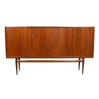 Danish Modern Teak Highboard Bar Storage Cabinet