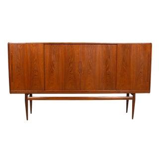 Danish Modern Teak Highboard Bar Storage Cabinet