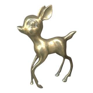 Vintage Brass Fawn Deer Figurine