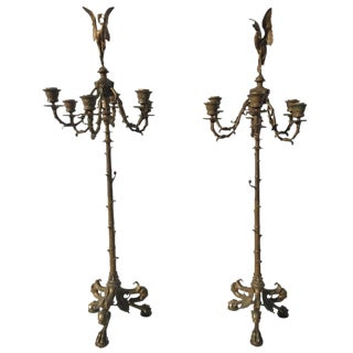 Pair of Neoclassical Candelabra, F. Barbedienne