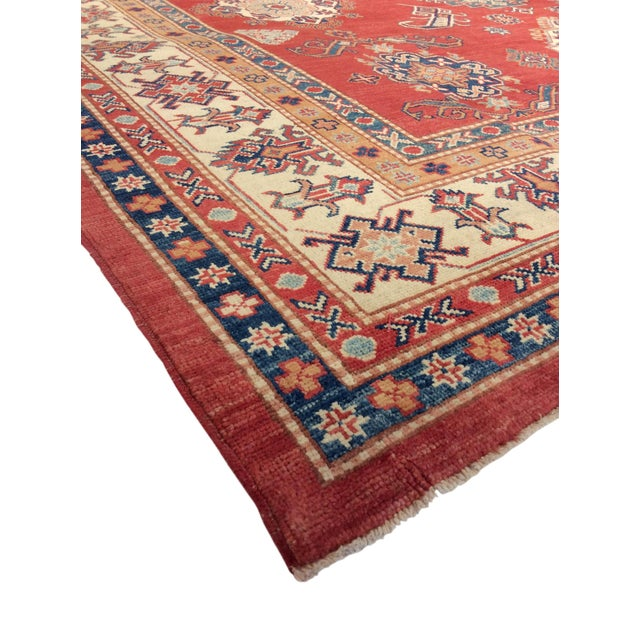 """Image of Kazak Hand Knotted Wool Rug - 9'1"""" x 12'4"""""""